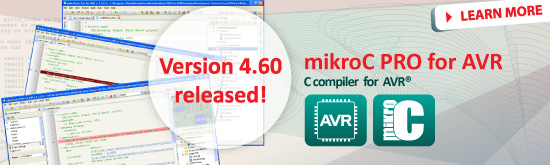 mikroC PRO for AVR 4.60 released