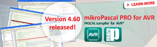 mikroPascal PRO for AVR 4.60 released