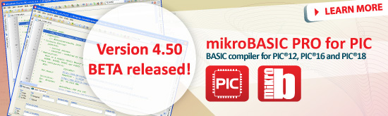 mikroBasic PRO for PIC 4.50beta released