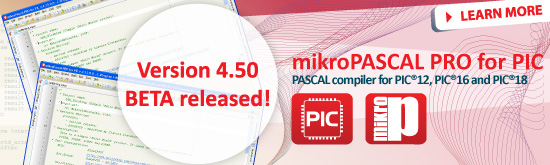 mikroPascal PRO for PIC 4.50beta released