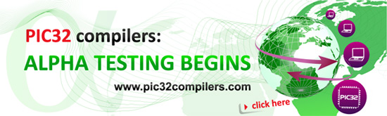 PIC32 compilers: alpha testing under way