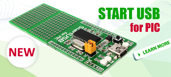 Start USB for PIC Board released