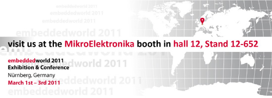 mikroElektronika at Embedded World 2011