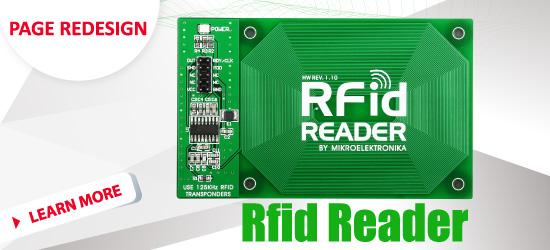 RFid Board webpage redesigned