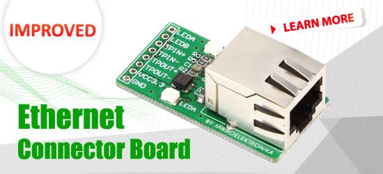 Ethernet Connector Board Improved