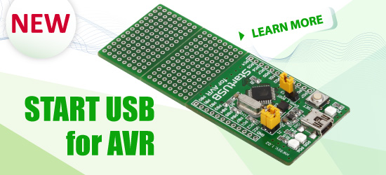 StartUSB for AVR Board Released