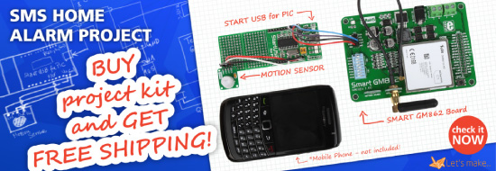 Let's make project 01 - SMS Home Alarm