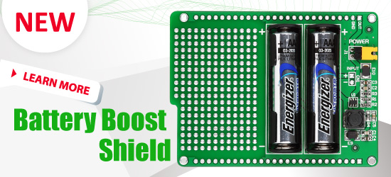 New: Battery Boost Shield Board released!