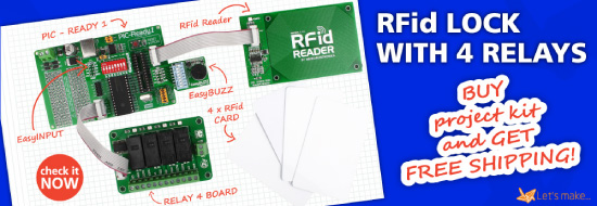 Let's make project 02 - RFid lock with 4 relays