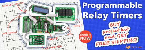 Let's make project 03 - Programmable Relay Timers (AVR)