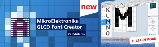 mikroElektronika GLCD Font Creator Released