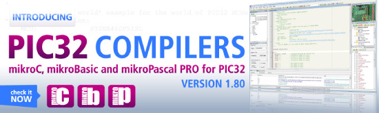 New PIC32 compilers v1.80 have arrived