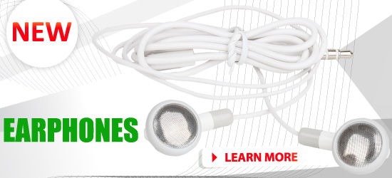 New: Earphones (white) available for sale!