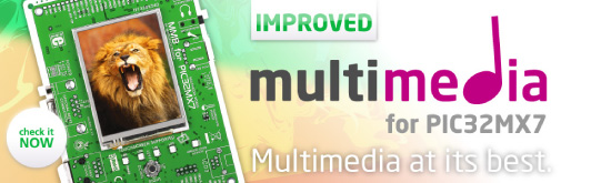 New: MultiMedia Board for PIC32MX7 improved!
