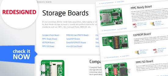 Storage Boards Page Redesigned