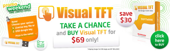 Special Weekend Offer: Buy Visual TFT software at discounted price!