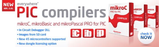 New PIC compilers 5.01 released!