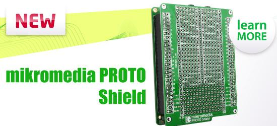 New: mikromedia PROTO  shield released