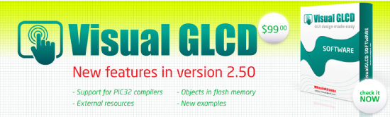 New: Visual GLCD 2.50 released!
