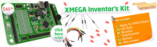 Special Weekend Offer: XMEGA Inventor's kit