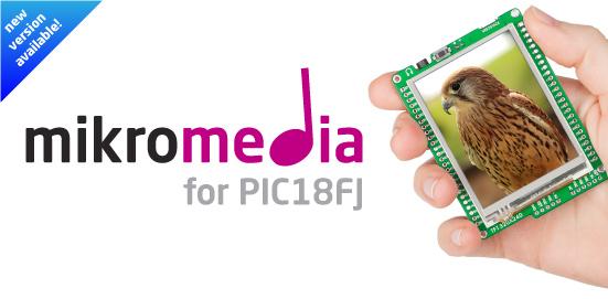 New mikromedia for PIC18FJ v1.10 released!