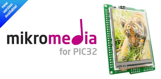 New mikromedia for PIC32 v1.10 released!