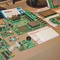 Microgenios and MikroElektronika at Microchip Masters 2011 in Brazil