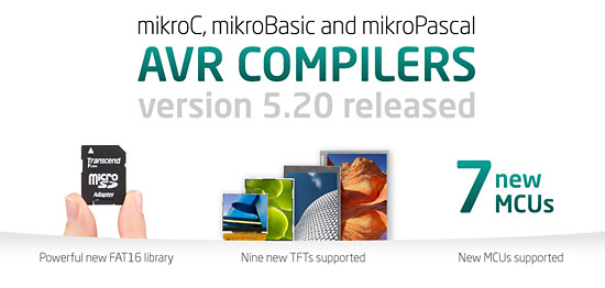 New AVR compilers 5.20 released!