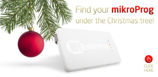 Find your new mikroProg under the Christmas Tree