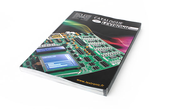 EasyPIC v7 on the cover of the new Lextronic catalog