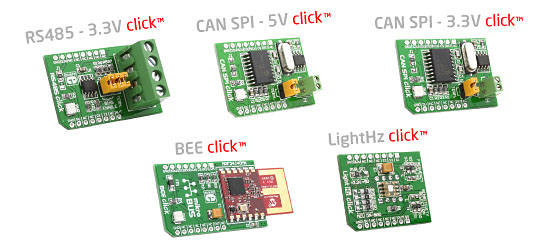 Five new Click™ boards released!