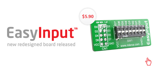 EasyInput™ Board redesigned!