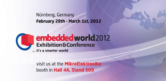 mikroElektronika at Embedded World 2012 in Nürnberg