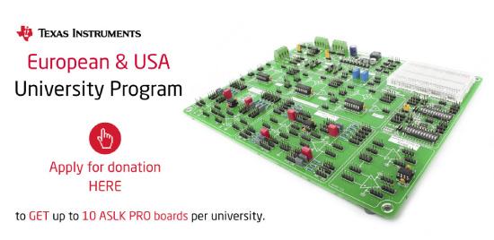 Texas Instruments® European and USA University Program