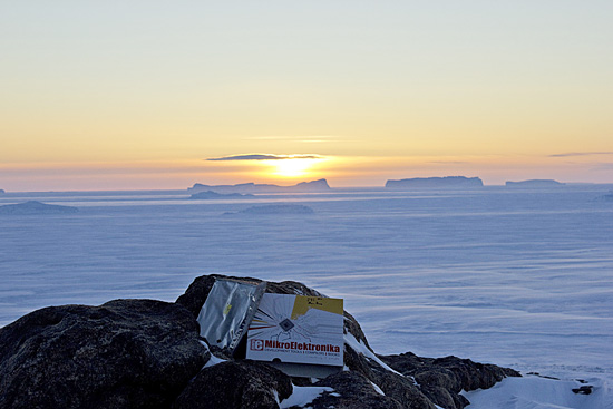 mikroElektronika box with EasyPIC v7 at South Pole