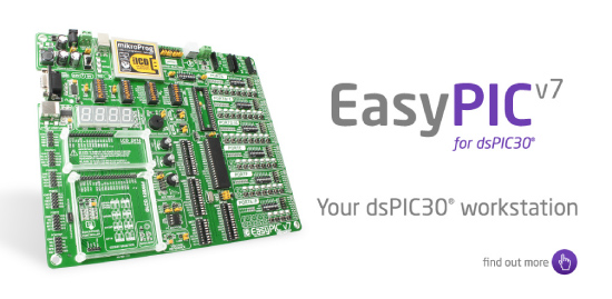 EasyPIC v7 for dsPIC30 released!