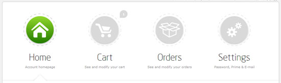 Shopping Cart and Account Panel Introduced!
