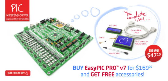 Special EasyPIC PRO v7 Weekend Offer!