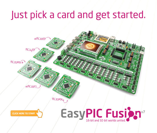 EasyPIC Fusion v7 Development Board Released
