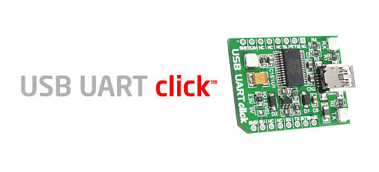 USB UART click board released!