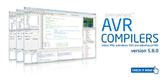 AVR compilers 5.8.0 released!