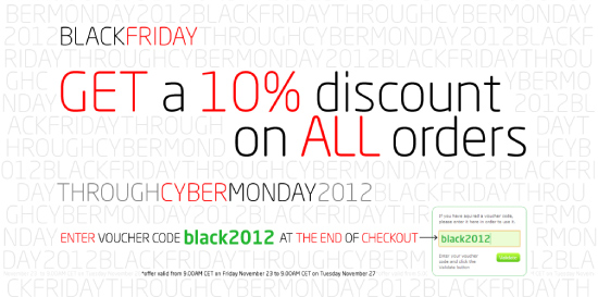 Save 10% on all orders this Black Friday!
