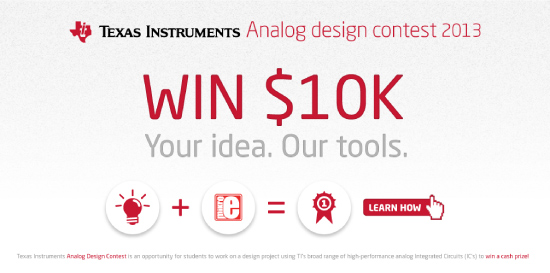 Win $10K at Texas Instruments Analog Design Contest!