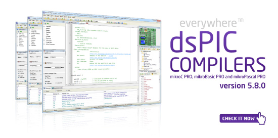 dsPIC compilers 5.8.0 released!