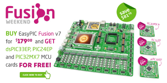Special EasyPIC Fusion Weekend Offer