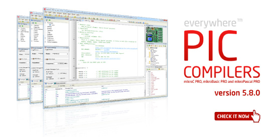 PIC compilers 5.8.0 released!