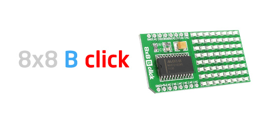 8x8 Blue LED Matrix Display click board released!
