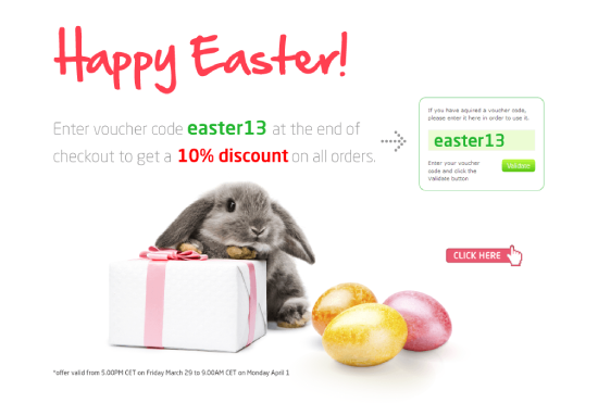 Use Special Easter 10% OFF Voucher On All Orders!