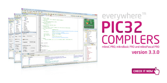 PIC32 compilers v3.3.0 released!