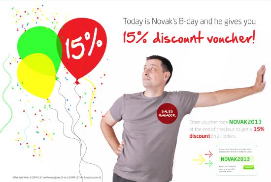 Novak's birthday offer!